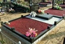 Как обустроить территорию вокруг могилы