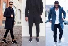 Как и с чем носить мужское пальто