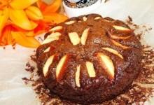 Влажный шоколадный пирог с яблоками